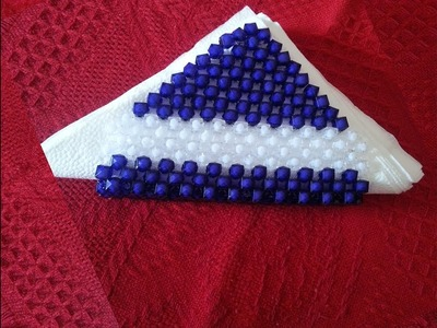How to make a beaded resturant tissue box