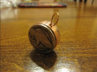 How to make a buffalo nickel pendant. Handmade coin charm.