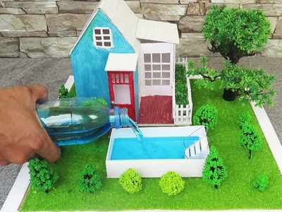 How To Make A Cute House ~ Pool ~ Fairy Garden - Dreamhouse || Project for Kids