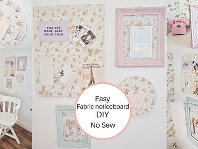 How to make a fabric noticeboard, No sew, easy DIY