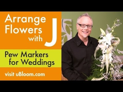 How to Make a Pew Marker Flower Garland!