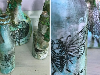 How to Make Altered Bottles Mixed Media Style