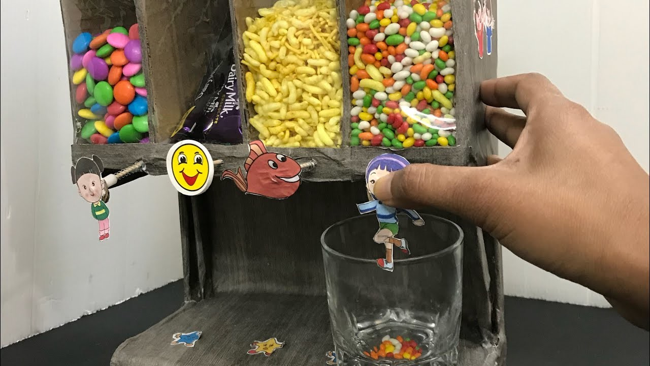 How to Make Candy Dispenser or Cereal dispenser