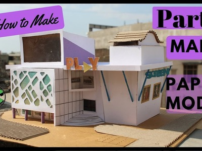 HOW TO MAKE MINIATURE MALL ARCHITECTURAL PAPER MODEL- part 1