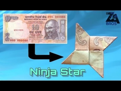 How to make Ninja Star With Note (Origami)