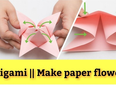 ●How to make paper flower || Origami || Origami lotus flower