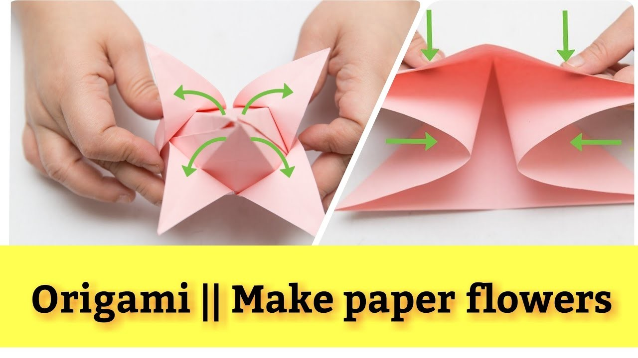 How To Make Paper Flower Origami Origami Lotus Flower