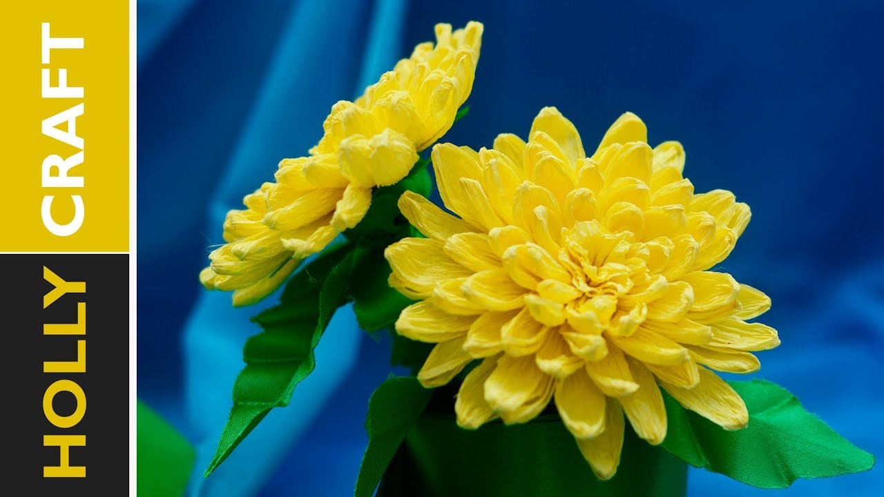 How to make paper flowers : Chrysanthemum