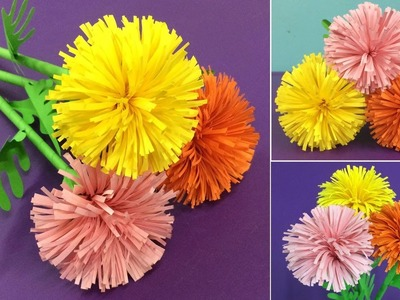 How to Make Paper Marigold Flower | Making Paper Flowers Step by Step | DIY-Paper Crafts