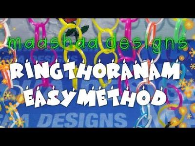 How to make ring Toran easy method