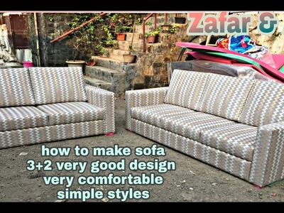 How to make sofa New design  3+2 Made by ABKN FURNITEC very stylish design