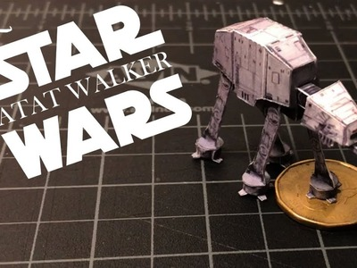 [HOW TO MAKE] STAR WARS Mini ATAT WALKER made of PAPER!