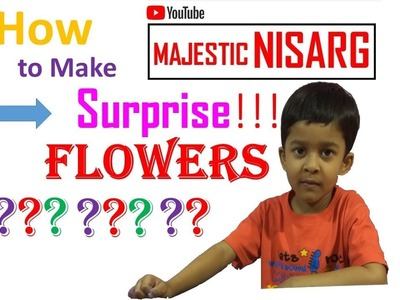 How to make SURPRISE FLOWER, Magic Flower,