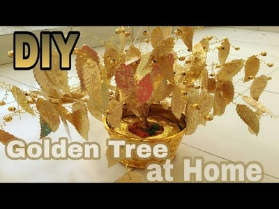 How to make tree wire easy steps.golden tree.sculpture