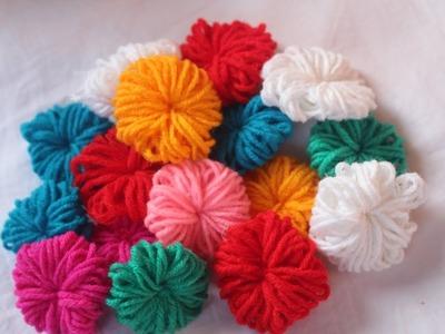 How to make wool flower   DIY