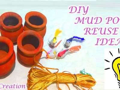 How to reuse mini mud pot|mud pot birds using wall decoration|diy reuse mud pot craft