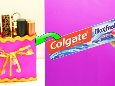 How To Reuse Toothpaste Box | Best Out of Waste Colgate Box | EMMA DIY #38
