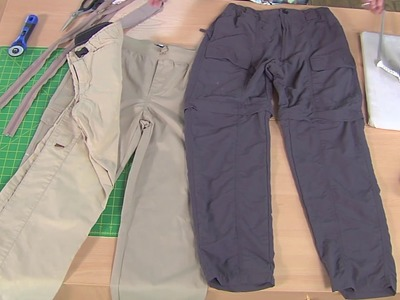 How to Sew Zip-Off Pants - Turning Pants into Shorts