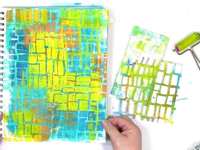 How to use a stencil with a gel plate