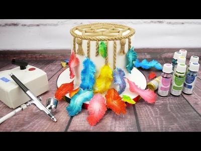 How To Use The PME Airbrush & Compressor Kit To Colour Sugar Feathers