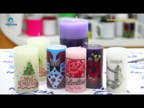How to use water transfer paper. Waterslide Decal Paper on Candle