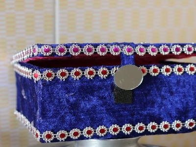 Innovative idea of Jewelry Box    Best Out of Waste Jewelry Box Making With Cardboard - DIY Crafts