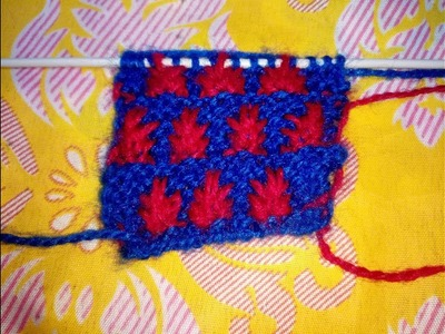 Sweater Knitting Double Colour Pattern For Baby Sweater Very Easy