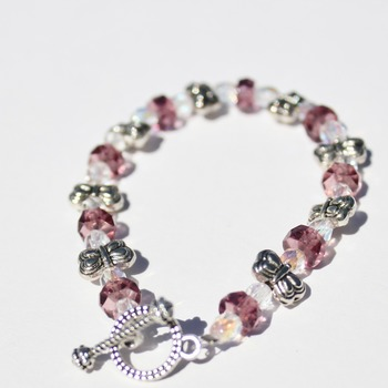 Little Girl's Purple Butterfly Bracelet