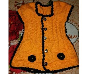 New knitting jacket design.pattern for baby girl.kids.