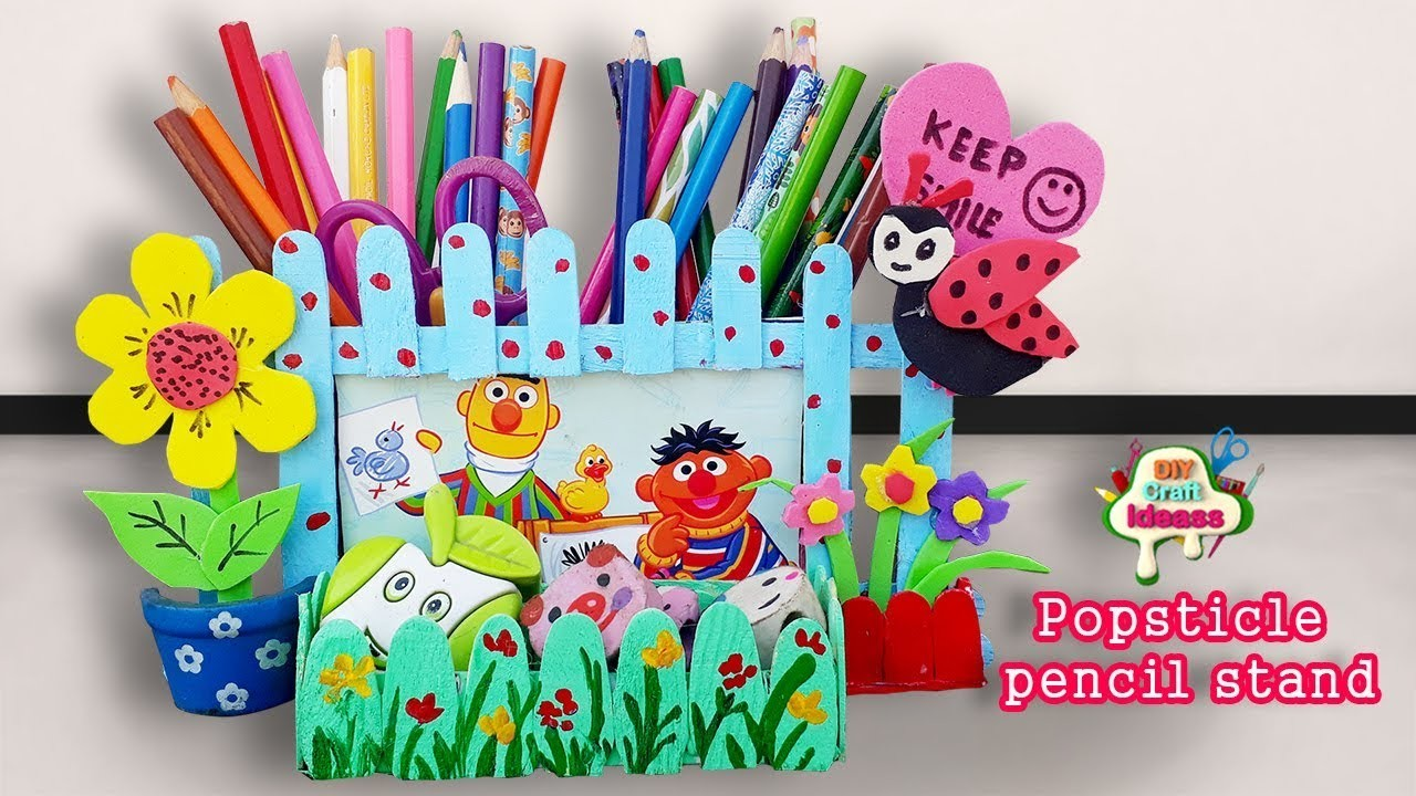 Paper Pen Stand Pen Stand Craft Pencil Holder With Ice Cream