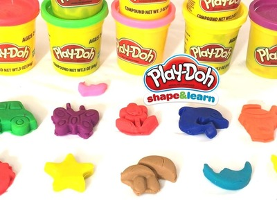 Play-Doh - How to make different shapes with colorful play-doh. Learning Colors, Funny educational