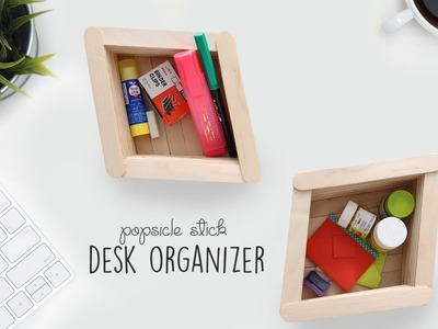 Popsicle Stick Organizer | DIY Decor | Ventuno Art
