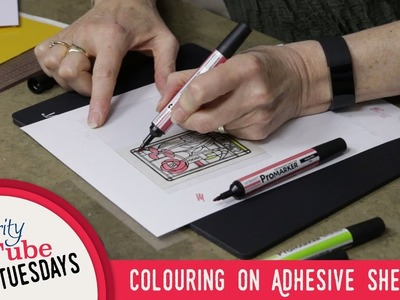 """Stamping How To - Colouring on Adhesive Sheets - The Gilded """"Flakes"""" Age"""