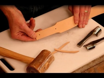 The Leather Element: How to Taper Leather Straps