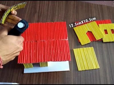 कागज से सुन्दर घर बनाना सीखे  How to make a Paper House DIY