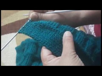 Unique way of Making button Patti or v neck for cardigan.jacket how to make half sleev jacket part 5