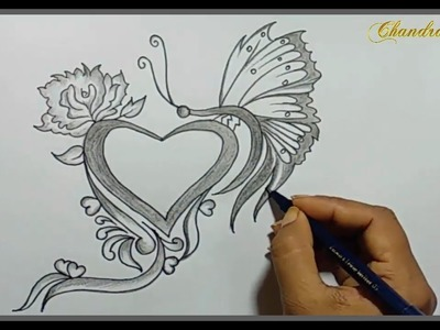 Valentines Drawings - How To Draw a Valentine's Design - Valentine's Day Drawings