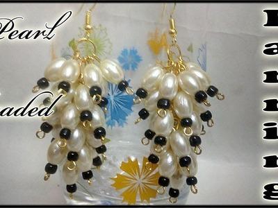 #122 How to Make Pearl  Beaded Grapes like Earring || Diy || Jewellery Making