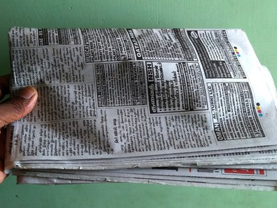 4 Awesome organizer ideas Using Newspaper   All type videyos