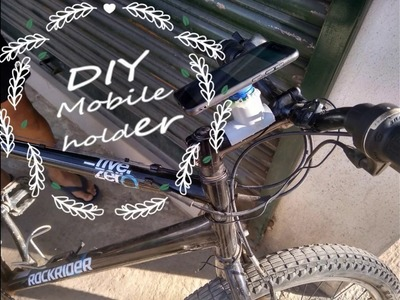 DIY Mobile holder for bike (easy and fast).