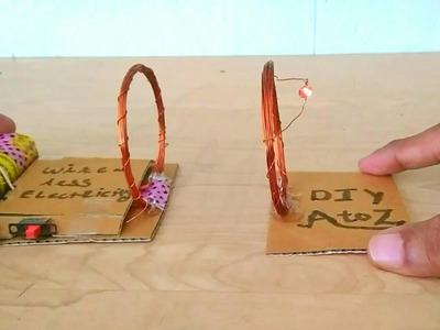 DIY Wireless Power Transmission - ElectroMagnetic Power - How To Make Wireless Electricity Transfer