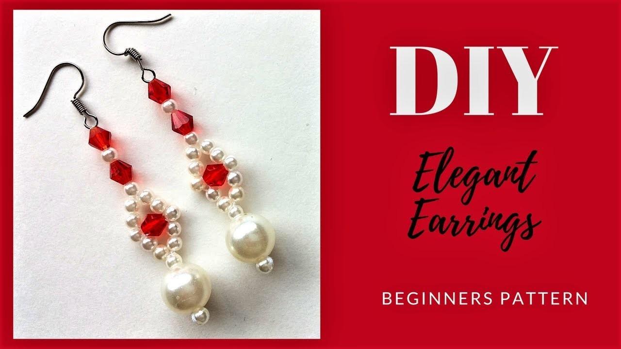 Earrings tutorial.  DIY earrings. How to make beautiful earrings. Beading tutorial