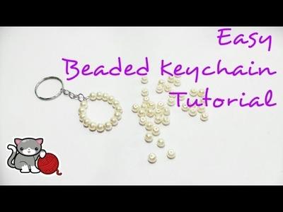 Easy Beaded Keychain Tutorial