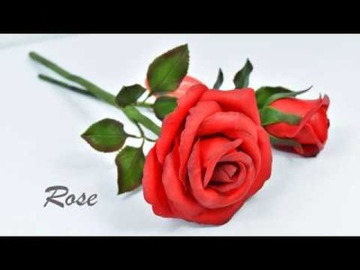 """Easy way to make """"Real Rose"""" from clay 