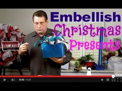 Embellish Your Christmas Packages With Ornaments and Ribbon