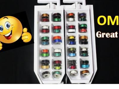 Great Idea For Organizing Bobbin  (DIY)
