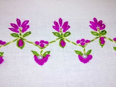 Hand Embroidery: Beginner Stitches (Border Stitch and more) by nakshi katha.