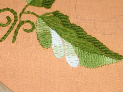 Hand embroidery designs | Leaf tutorial