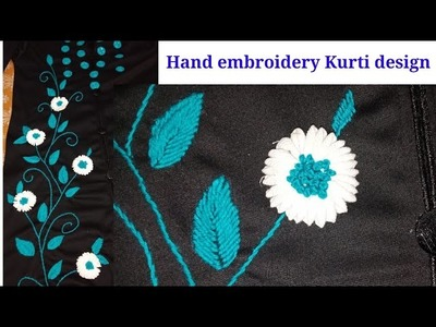 Hand embroidery Kurti with mirrors and beautiful design
