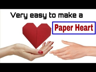 How to make a paper heart - folding | Origami paper heart